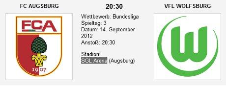 Quoten-Vergleich Augsburg Wolfsburg